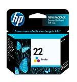 hp 21 22 ink cartridge combo pack - HP 22 Tri-color Original Ink Cartridge (C9352AN)