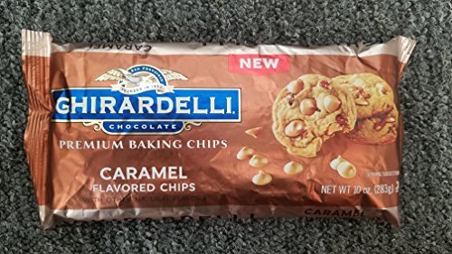 Ghirardelli Premium Baking Chips, Caramel flavored, 10 oz, Pack of 2 (Caramel Chocolate Chips)