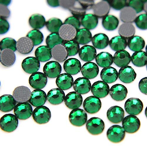 Zbella Crystal Hot Fix Rhinestones 10 Gross (1440 Stones/pkg) Hotfix Rhinestones (ss16, Emerald)