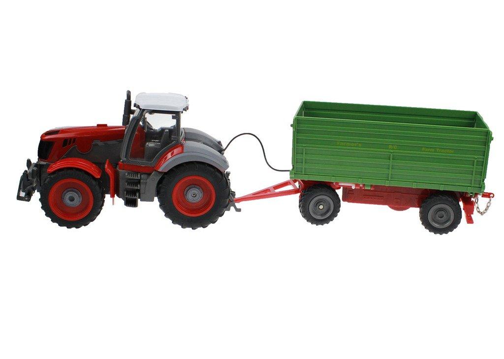 Hugine 6 Canal 4 Rueda Camión Control Remoto Farm Tractor con Remolque Verde: Amazon.es: Juguetes y juegos