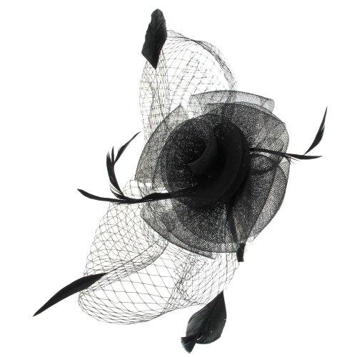 Capelli New York Ladies Headband Fascinatior With Mesh Flower & Veil