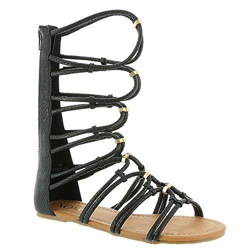 XOXO - Sandalias de vestir para mujer negro con estampado de serpiente