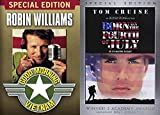 Vietnam War Drama/ Comedy Collection - Good Morning Vietnam & Born on the Fourth of July 2-DVD Bundle