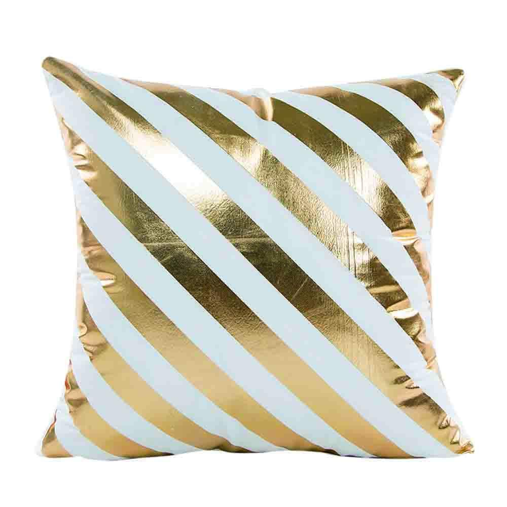 Weiliru Cushion Covers Throw Pillow Cases Shells for Couch Sofa Home Decor Modern Shining Gold Foil Printing