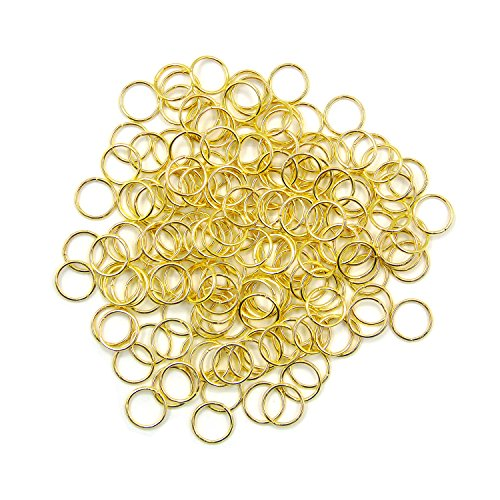- Grosun 500Pcs 10mm Gold Open Jump Rings Open Connectors Circle Metal Findings