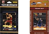 C&I Collectables NBA Cleveland Cavaliers 2 Different Licensed Trading Card Team Sets