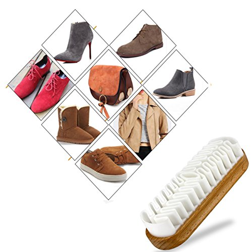 Horsehair Shoe Brush Set Multifunctional Shoe Cleaning and Shine Brush Kit for Leather Shoes, Suede and Nubuck Shoes, Car Seat or Leather Furniture by XITANGOU (Image #4)