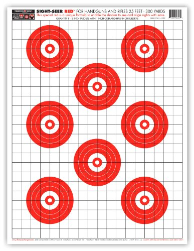 Sight Seer Red - Paper Gun Range Shooting Targets 19x25 Inch (5 Pack)