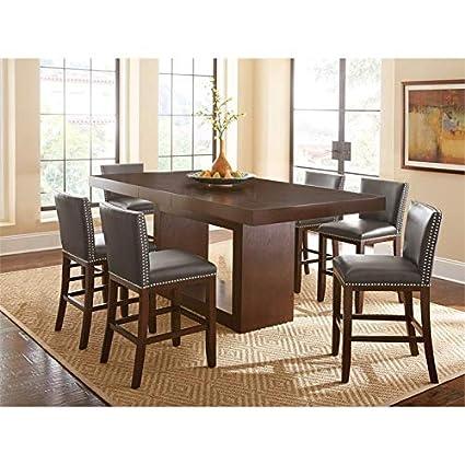 Admirable Amazon Com Antonio Deep Cherry 7 Piece Counter Height Pdpeps Interior Chair Design Pdpepsorg