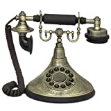 Antique Reproduction Functional 1920's Brass Cradle Push Button Telephone