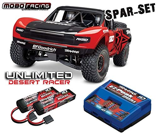 Traxxas 85076-4 Unlimited Desert Racer RTR rot +Dual-Lader + 2X 3S 5000 Lipo UDR