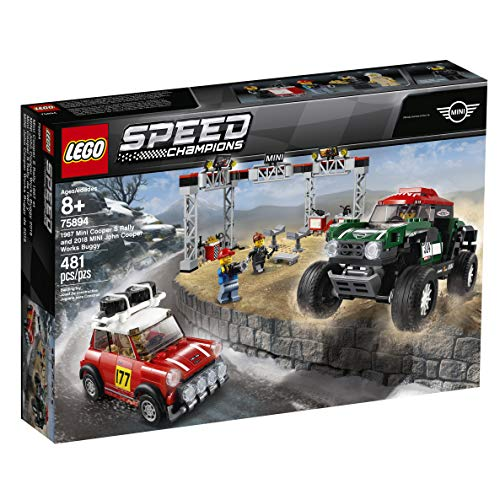 LEGO Speed Champions 1967 Mini Cooper S Rally and 2018 Mini John Cooper Works Buggy 75894 Building Kit , New 2019 (481 - Works John Cooper Mini