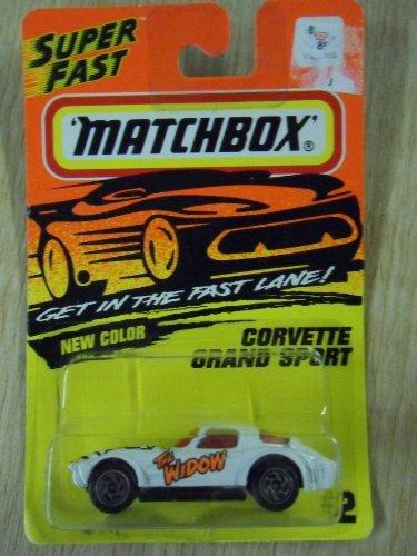Matchbox Corvette Grand Sport White The Widow  2 DieCast Car by Tyco