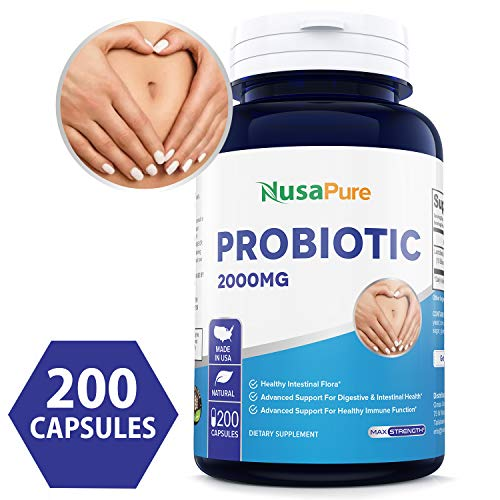 Best Probiotic 2000mg 200caps (Non-GMO & Gluten Free) Works Naturally with Your Body to Keep Digestive System in Balance - Made in USA - 100% Money Back Guarantee!