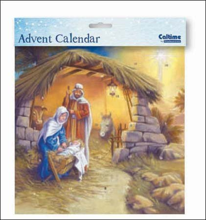 Square Advent Calendar (WDM9672) Caltime - Around The Manger by Caltime Woodmansterne