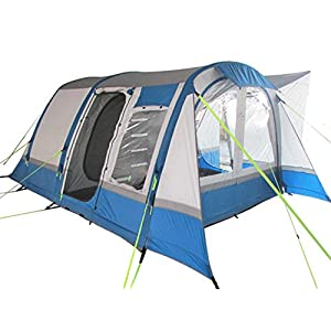 OLPRO Outdoor Leisure Products Cocoon Breeze 4.55m x 3.5m 5 Berth Inflatable Drive Away Campervan Awning Blue & Grey