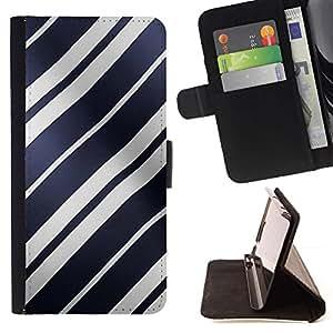 For LG G4 Case , Líneas blancas Brillante Azul Ondulado- la tarjeta de Crédito Slots PU Funda de cuero Monedero caso cubierta de piel