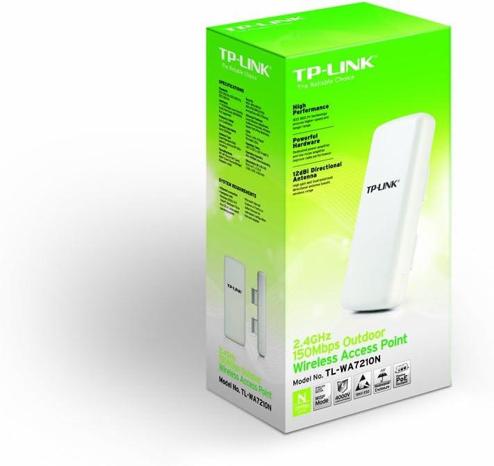 TP-LINK TL-WA7210N - Punto de Acceso inalámbrico 2.4 GHz Exterior (Protección contra Rayos de 4000V y ESD de 15KV)