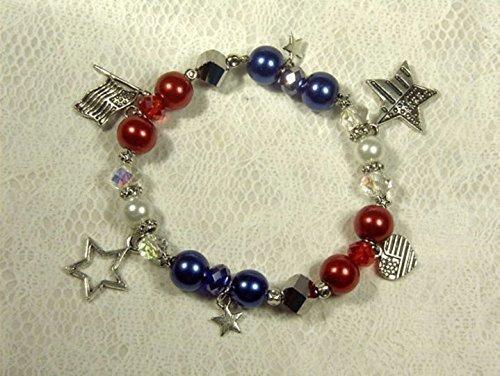Patriotic Beaded Bracelet (Cynthia Lynn
