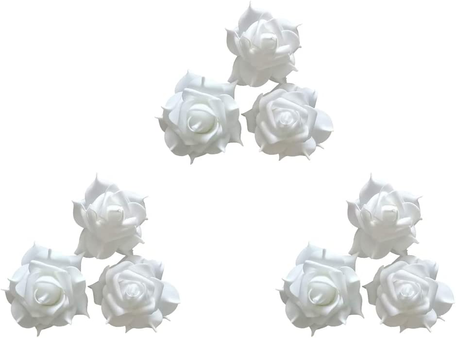 Healthcom Flameless Floating Candle Light 7 Colors Changing LED Rose Flower LED Tea Light Candles Decoration Night Light Lamp for Wedding Party Dating and Festival Celebration 9 Pack