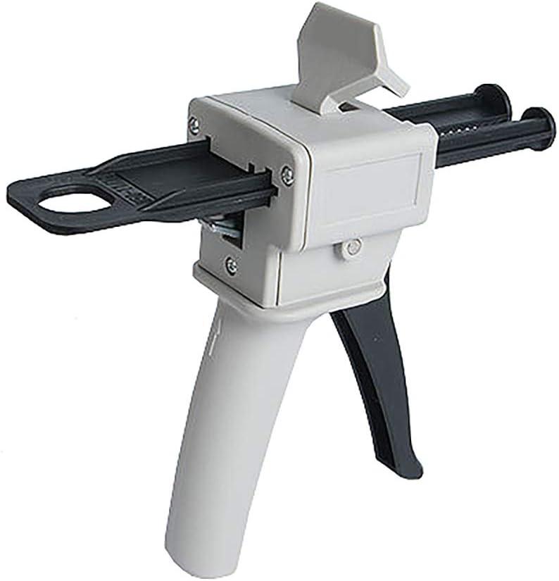 Magiin 1pcs Pistola de Pegamento Epoxi AB 50ml Mango Adhesivo Mezclado 1:1 y 2:1 Pistola Dispensadora de Extensión de Mango
