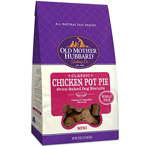 - Old Mother Hubbard Mini Classic Chicken Pot Pie Biscuits Baked Dog Treats, 20 oz.