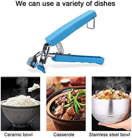 Demino 2ST Küche Scald Proof Clamp-Schüsseln Teller Schalen Halter Mikrowelle Clips Anti-Scald Halter Mikrowellenherd Air Fryer Extraktionswerkzeug zufällige Farbe zufällige Farbe 1