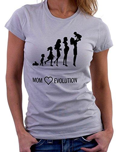 """Camiseta """"mamma evolution"""" maternidad todas las tallas para mujer, ideal para el día de la madre–Camiseta by tshirteria., gris, M gris"""