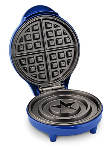 Marvel MVA-278 Captain America Shield Waffle Maker, Blue