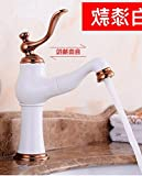 AWXJX Pull Out Washbasin European Style Multifunction Copper Sink Taps