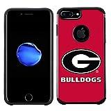Prime Brands Group Textured Team Color Cell Phone Case for Apple iPhone 8 Plus/7 Plus/6S Plus/6 Plus - NCAA Licensed University of Georgia Bulldogs