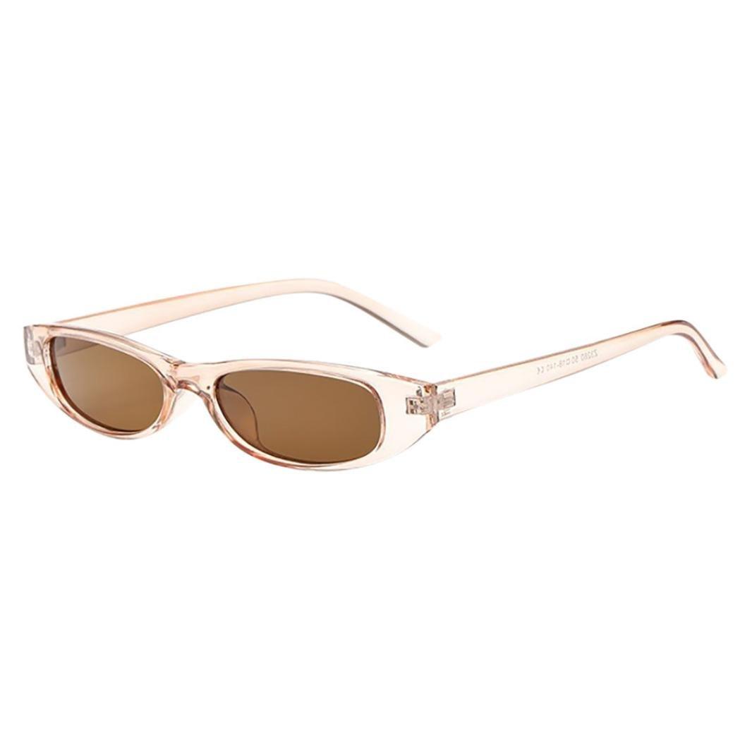 2018 Sunglasses,Sunfei  Retro Vintage   Clout Cat Rapper Oval Shades Grunge Glasses Unisex Sunglasses (E)