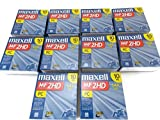 10 10-Packs Maxell MF2HD 1.44 MB PC Floppy Disks, Total of 100 Disks