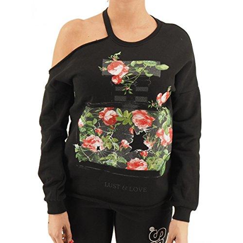 HAPPINESS - Sweat-shirt - Femme Noir noir