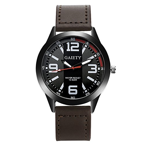 Mens Quartz Watches COOKI Clearance Unique Analog Cheap Watches on Sale Leather Wrist Watches for Men-A08