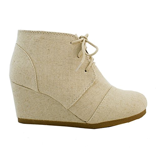Heel Women's Booties Toe Almond Light Stacked Fashion Shoes Zipper Ankle S Side Taupe wrEYr