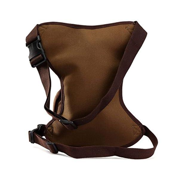 ELEGIANT - Riñonera deportiva de pernera, bolsa para uso diario, con múltiples bolsillos, monedero de seguridad para pierna, para viajes, escalada, ciclismo y correr, cinturón de fijación con longitud ajustable 4