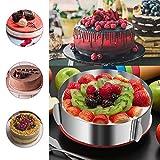 WIWAPLEX Cake Ring 6 to 12 Inch Adjustable Round