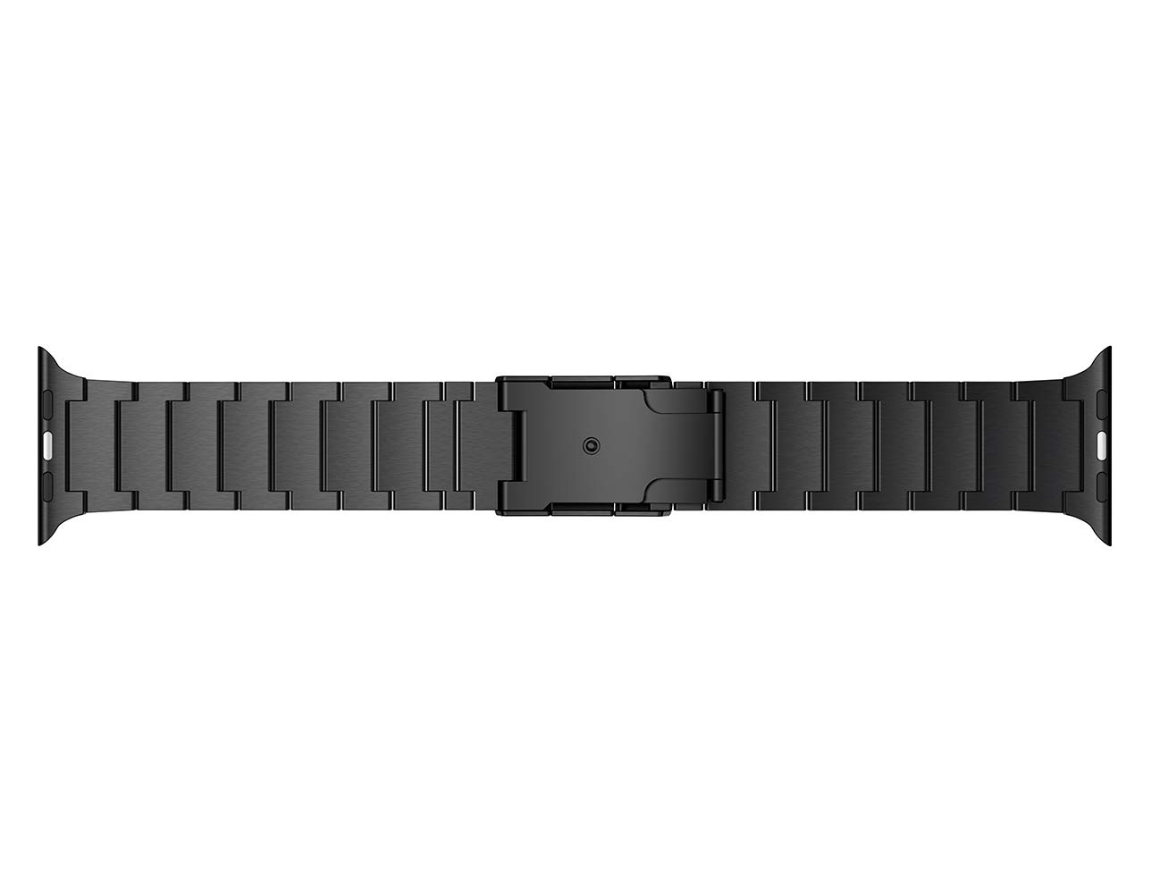 LDFAS Compatible for Apple Watch Band 44mm/42mm, Titanium Metal Watch Strap with Double Button Clasp Compatible for Apple Watch Series 4/3/2/1, Black by LDFAS (Image #5)