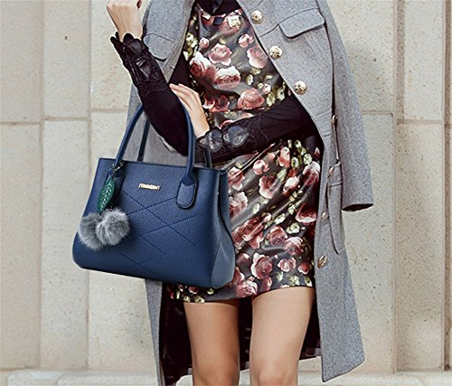 tracolla spalla a PU Linge a donna multicolor BAO Borse Borse blue Borse pink qxpA1WwSf