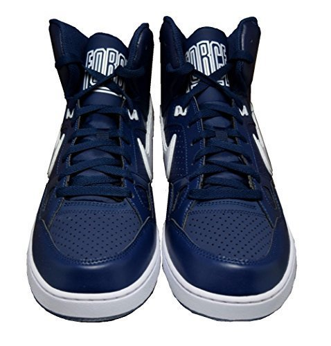 NIKE Mens Son Of Force Mid Basketball Shoes 616281-411 Midnight Navy/White (US 10.5)