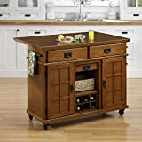 Home Styles Home Styles Arts & Crafts Cottage Kitchen Cart, Oak, Wood