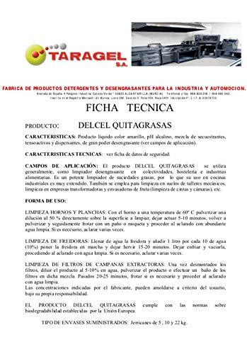 DELCEL QUITA-GRASAS ALCALINO Para cocinas, suelos y superficies muy sucias (5kgrs): Amazon.es: Hogar