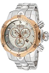 Invicta Men's 10795 Venom Reserve Chronograph Silver Textured Dial Stainless Steel Watch