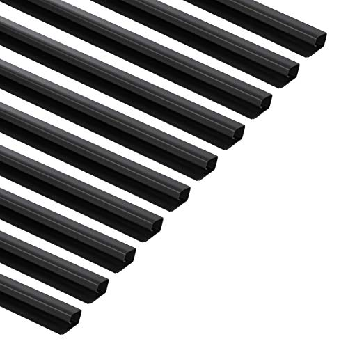 AmazonBasics Cable Raceway/Concealer with Self-Adhesive Tape - 48-Inch - Black, 10-Pack