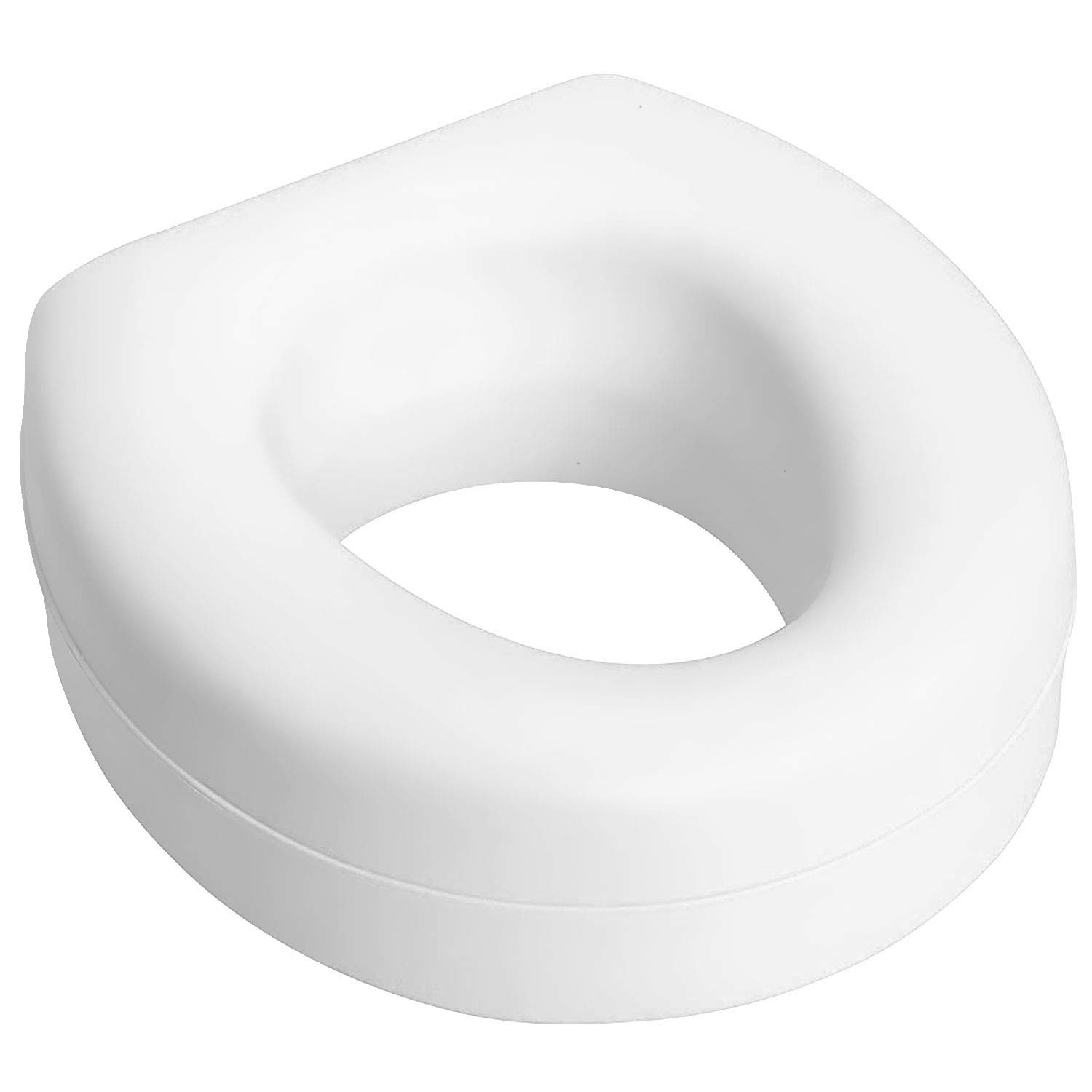 HealthSmart Portable Elevated Raised Toilet Seat Riser, White by HealthSmart