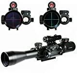 Crossbow Gun with Scope - TZWNS Rifle Scope C3-9X40EG+M1+JG8 3-9x40 Hunting Mil-Dot illuminated Red Green Laser Tactical Reticle Snipe Scope Sight with Holographic Dot Sight