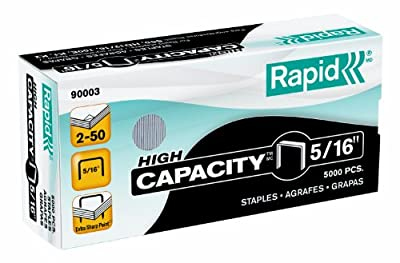 Rapid High Capacity Staples, 5/16-Inch, 5,000 Per Box (90003)