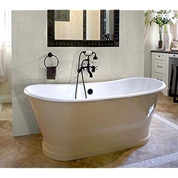 Great Cheviot Products Inc. 2124 WC Customized Balmoral Cast Iron Bathtub U0026  Skirted Bathtub,