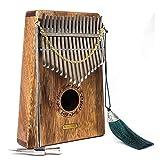 Kalimba 17 Keys Thumb Piano with Musical Instruction and Tuning Tool, Music Book,Thumb Piano bag